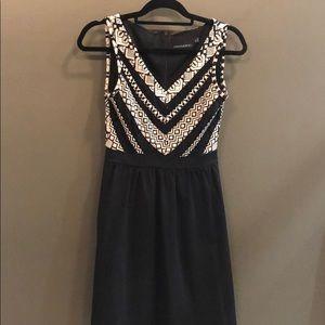 Cynthia rowley short black and white dress